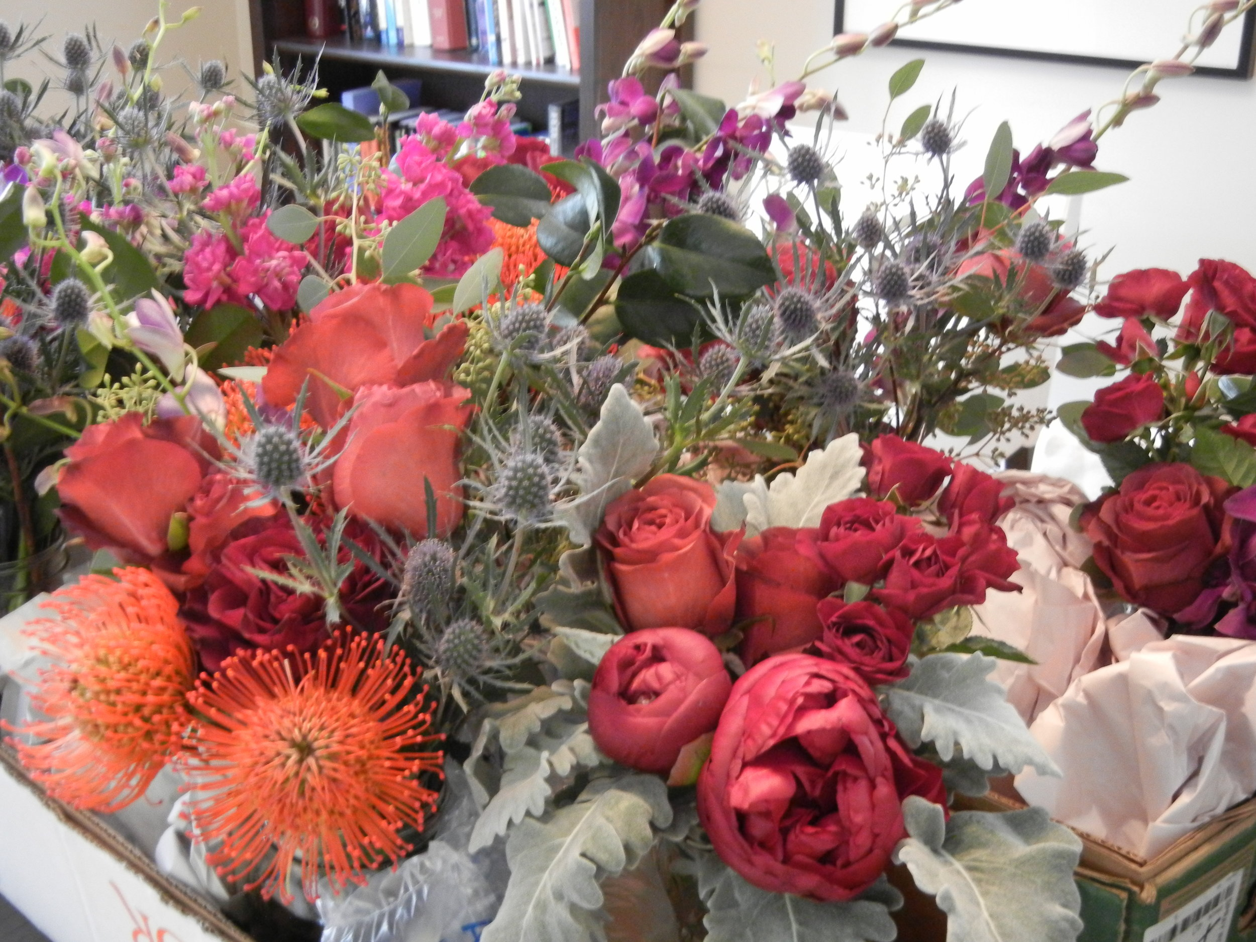 Eclectic holiday flowers