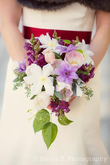 winter bridal bouquet zingermans ann arbor