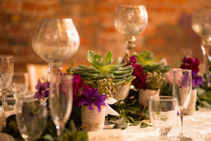 winter wedding centerpiece flowers