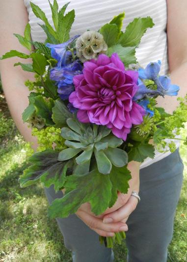 herb bridesmaid bouquet wedding at wellers in saline michigan