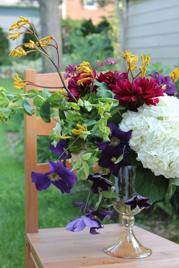 flowers for Katherine's catering Ann Arbor