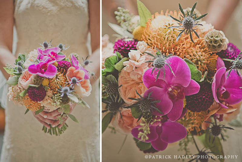 sophisticated modern autumn bridal bouquet