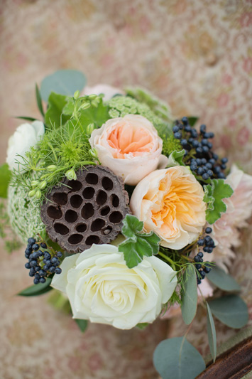 autumn wedding flowers at cottonwood barn
