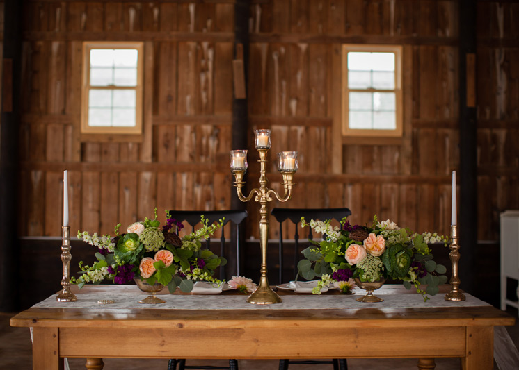 vintage wedding table design
