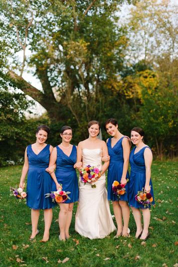 autumn bridal party flowers