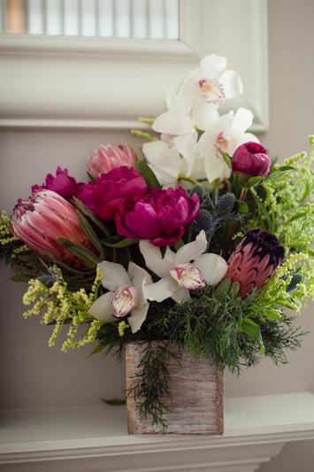 red poppy flower arrangement