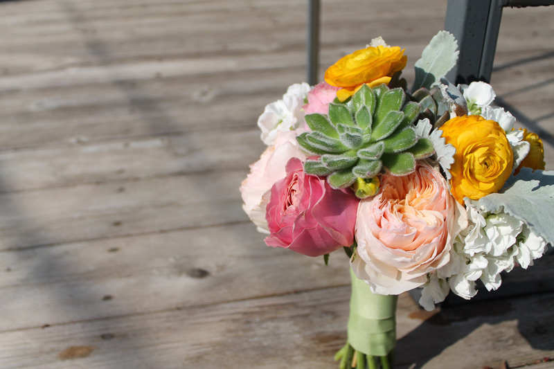 spring bridesmaids bouquet