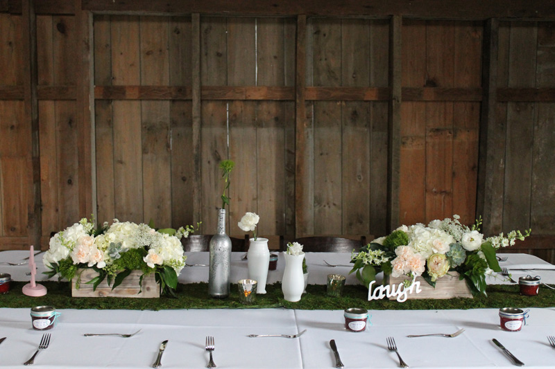 spring wedding flowers cottonwood barn dexter michigan