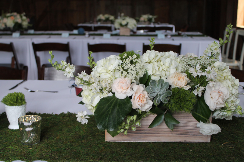 rustic wedding flowers ann arbor barn wedding
