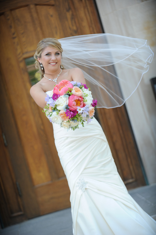 spring wedding flowers at university of michigan union