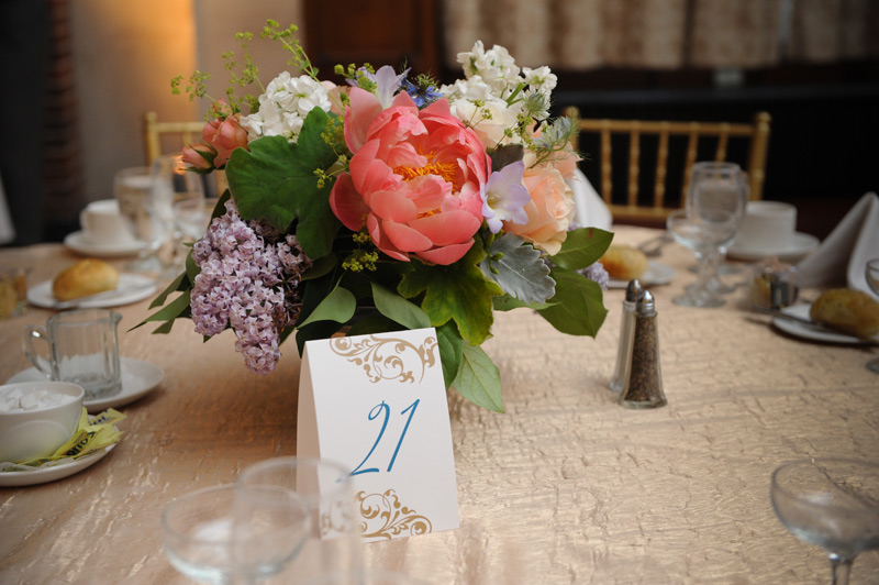 University of Michigan Union Ballroom wedding reception