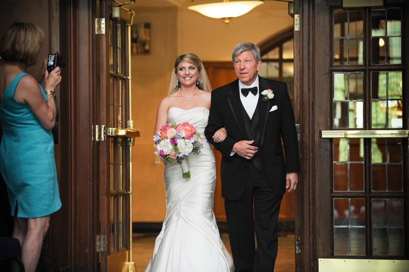University of Michigan Union pendleton room wedding ceremony
