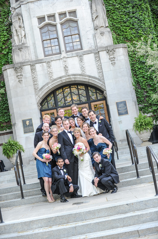 bridal party at Michigan Union, Ann Arbor