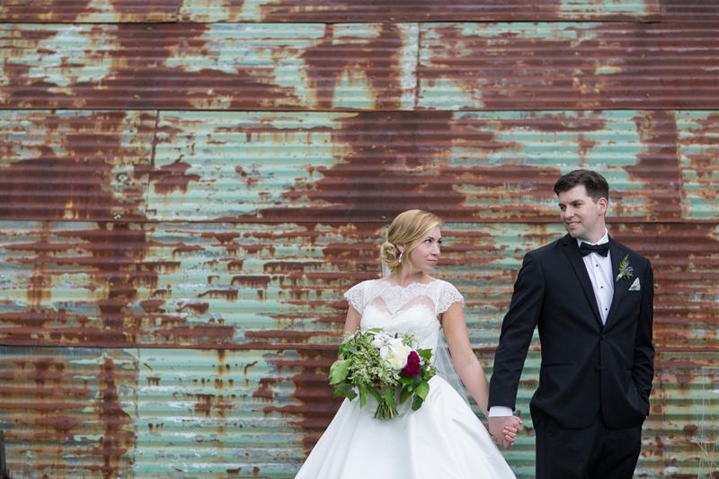 newlyweds at cottonwood barn, saline michigan
