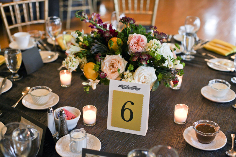 university of michigan league wedding flower centerpieces