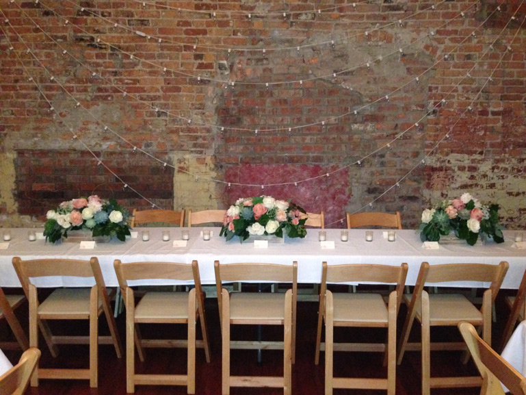 blush wedding flowers at zingermans events on fourth