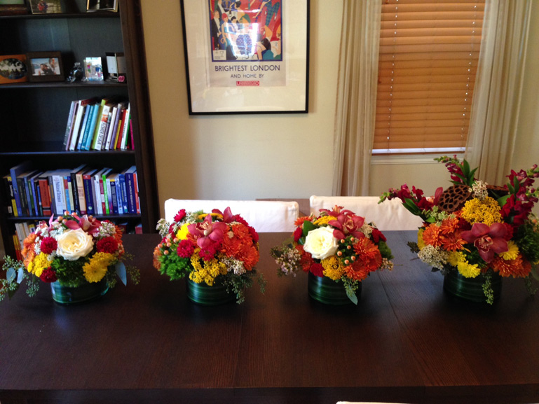 autumn flower centerpieces