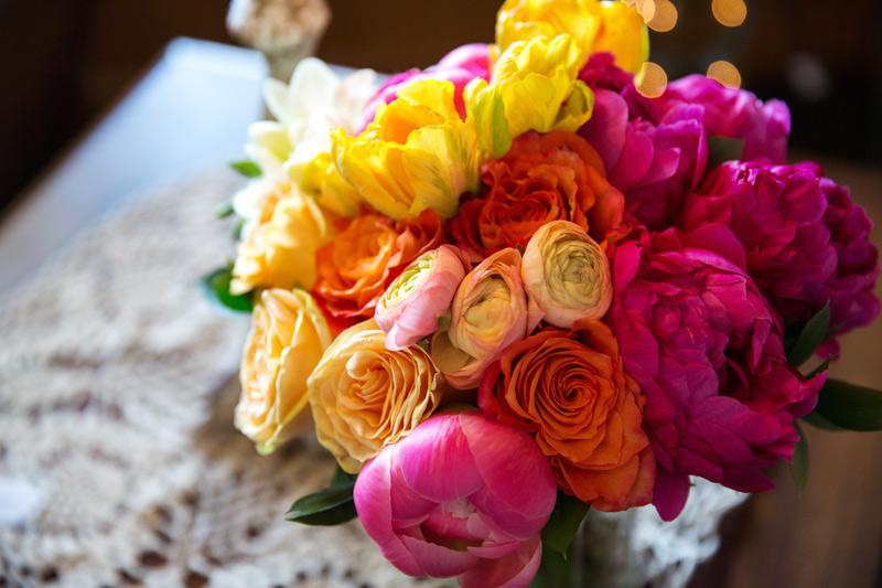 bride's bouquet waldenwoods michigan wedding