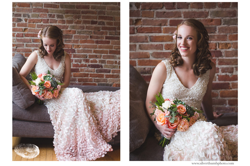 downtown ann arbor wedding bridal portraits