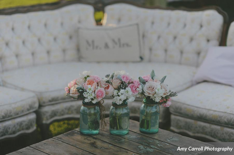 outdoor seating at michigan farm wedding