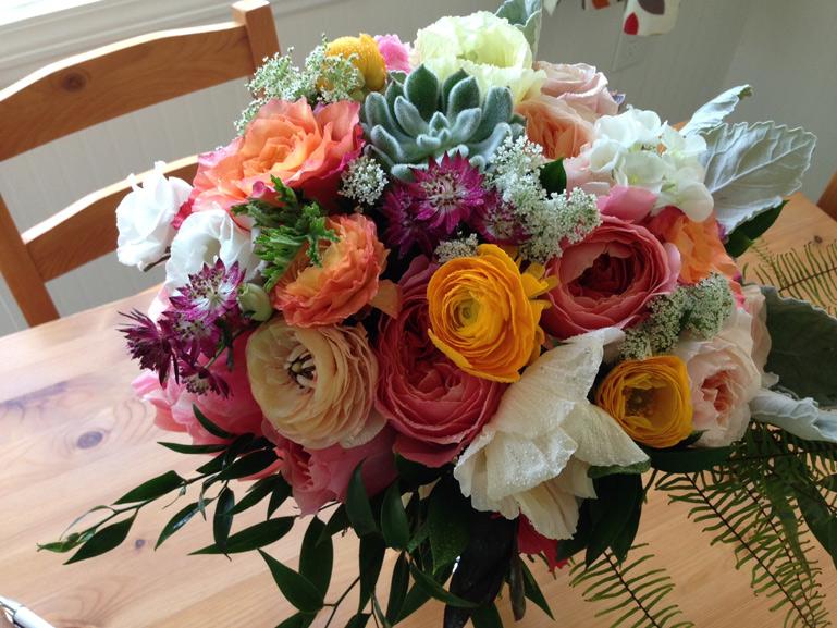 misty farm wedding bouquet
