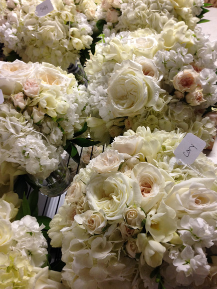 blush ivory and white wedding bouquets inn at st johns plymouth