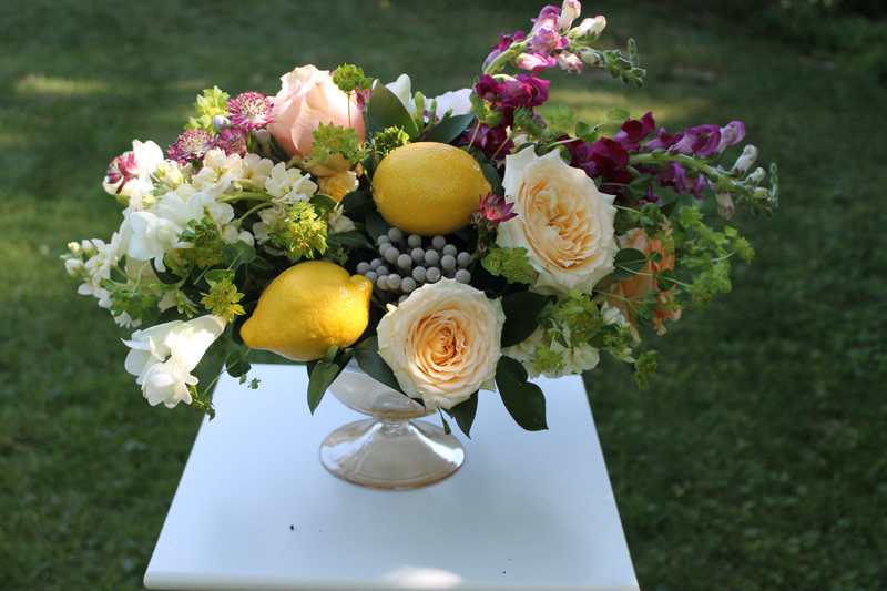 university of michigan league wedding flower centerpiece