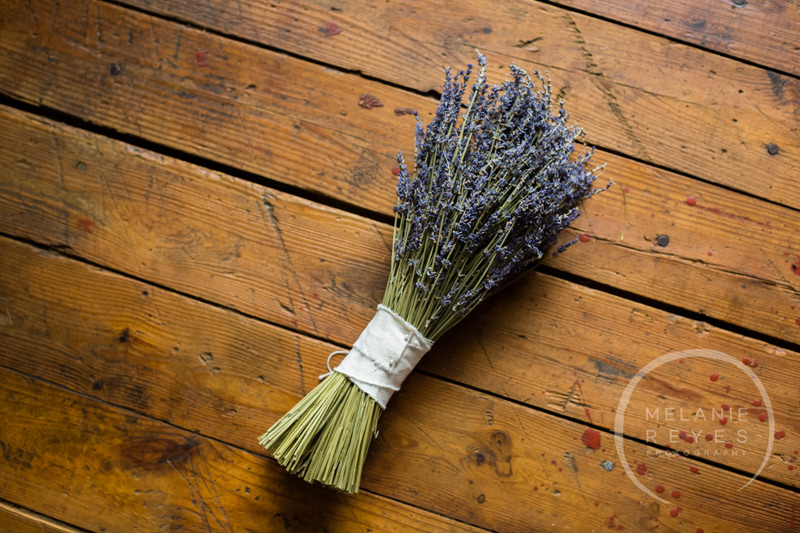 bride bouquet of dried lavender