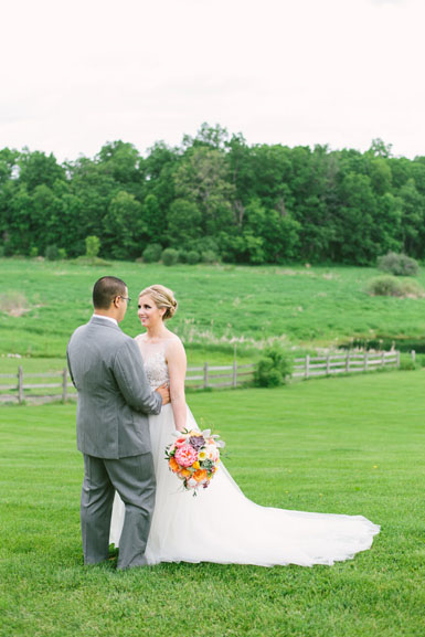 bride and groom ann arbor misty farm wedding