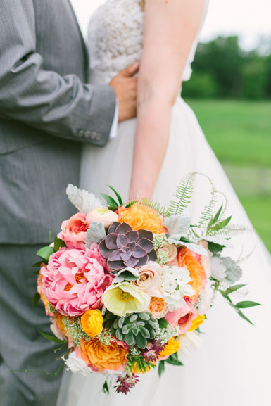 bride bouquet ann arbor misty farm wedding