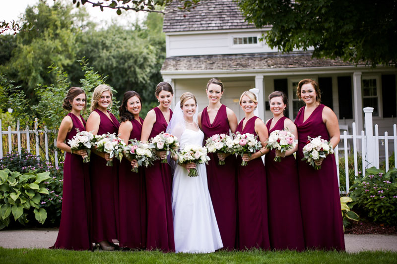 dearborn inn bride and bridesmaids