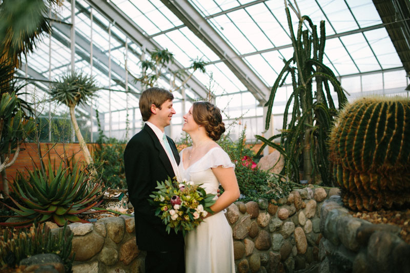 matthaei botanical garden winter wedding