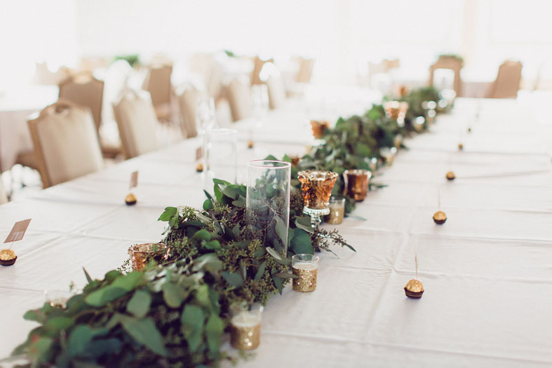 eucalyptus foliage table runner