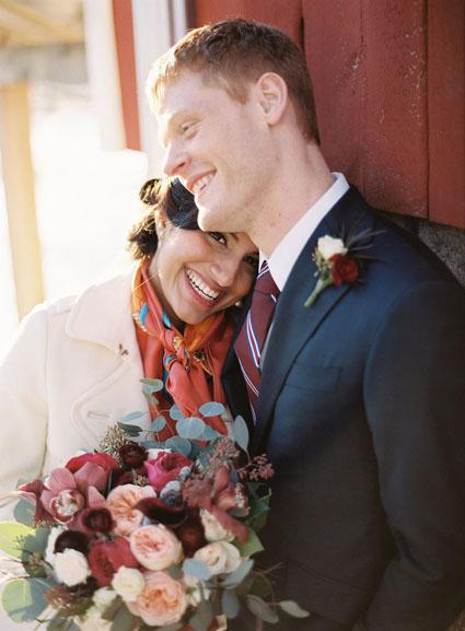 january wedding at cornman farms