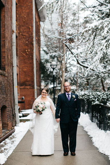 ann arbor winter wedding