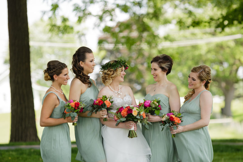 wedding party flowers in jewel tones