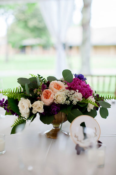 wedding centerpieces in jewel tones