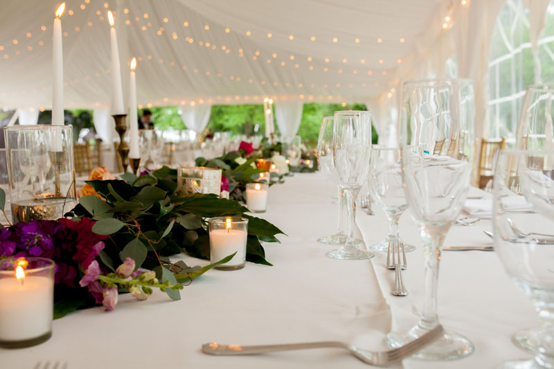 head table foliage and flower design