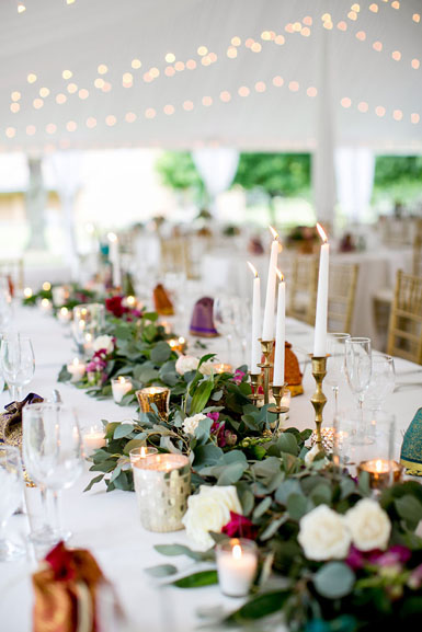 head table foliage garland
