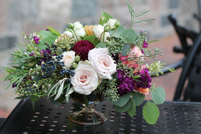 autumn wedding flowers at gandy dancer ann arbor