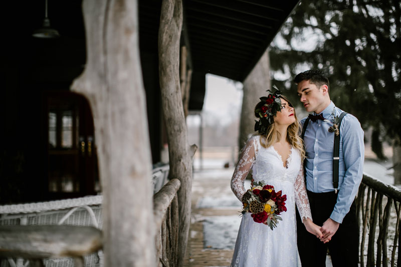 winter woodlands wedding