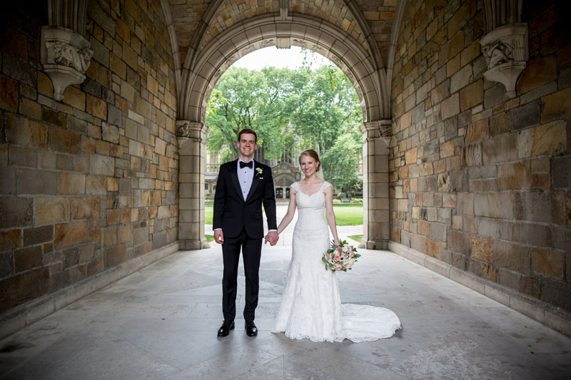 ann arbor law quad wedding couple photo