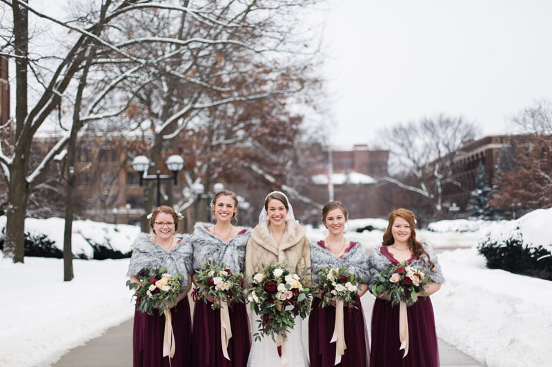 ann arbor university of michigan winter wedding