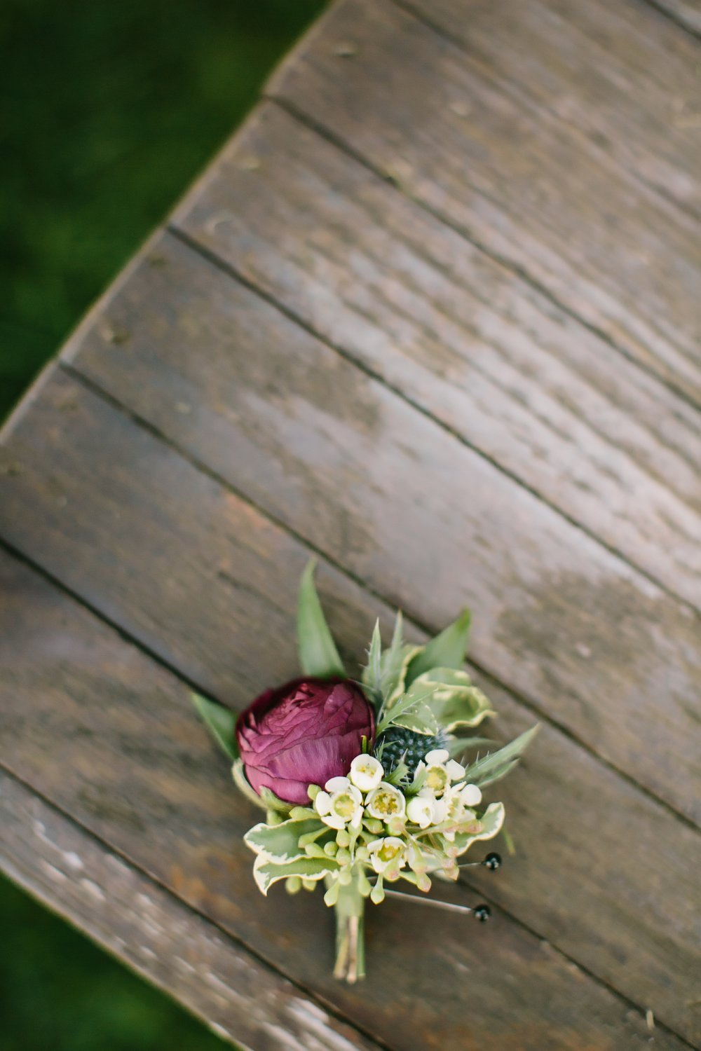 groom boutonniere misty farm wedding