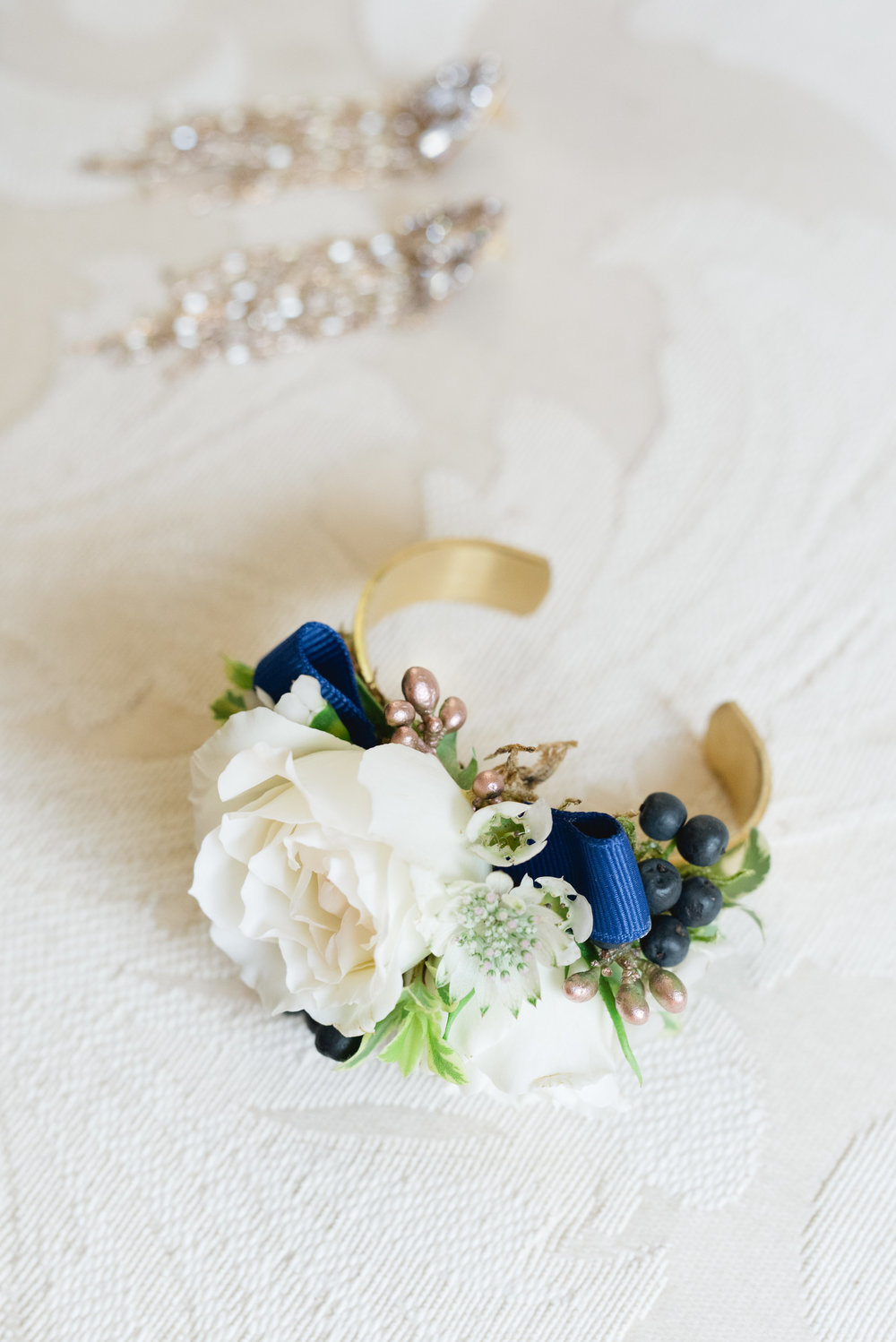 mother of the bride corsage cuff