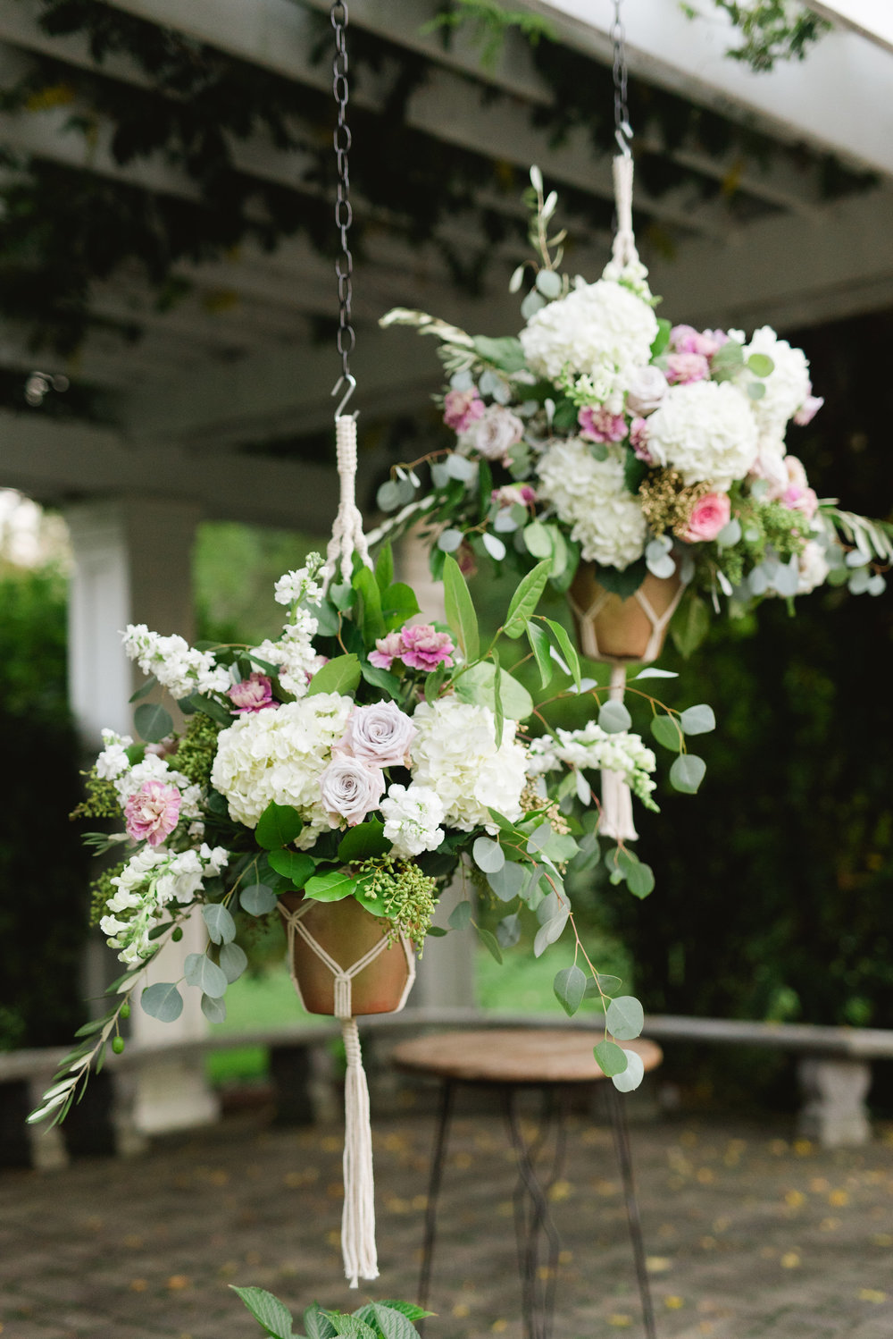 wedding ceremony macrame