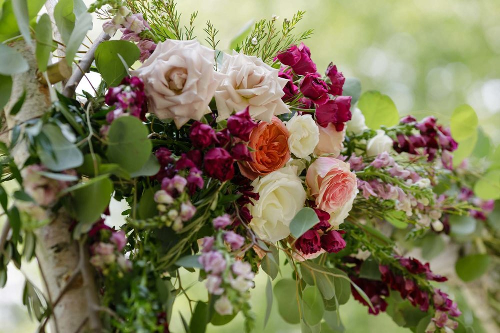sharon mills wedding flowers