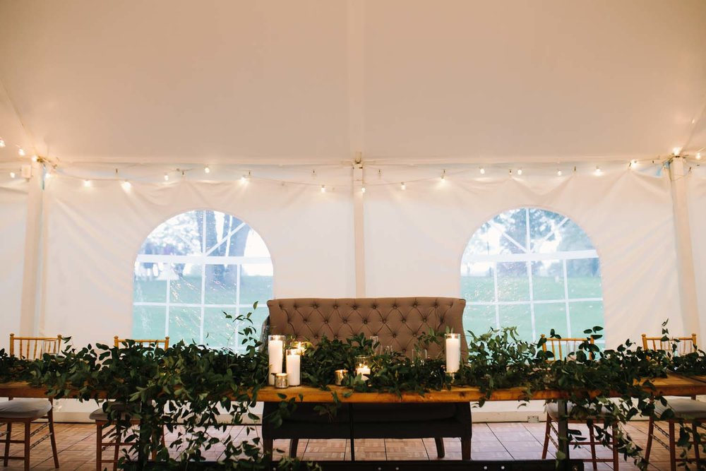 cornman farms head table reception