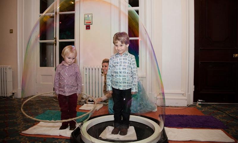 Giant bubble party