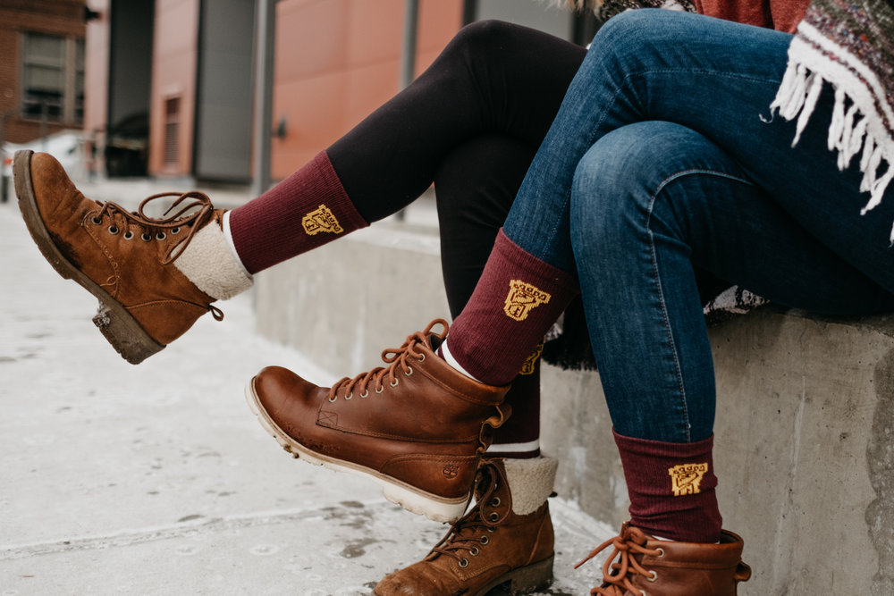 hippy feet socks -